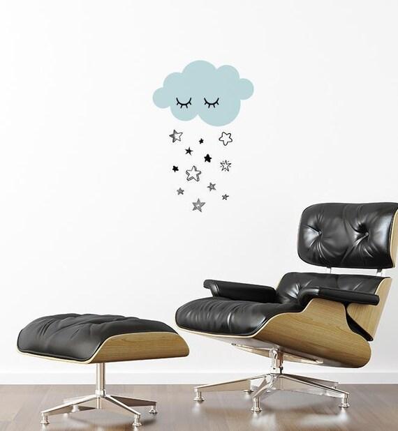 Cloud Raining Stars Wall Sticker Decal Kids Wall Stickers Etsy