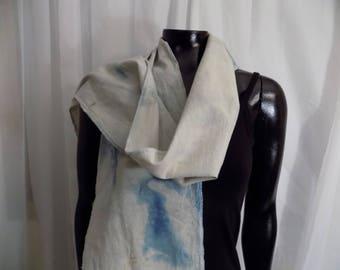 Eco Dyed Indigo Cotton Scarf