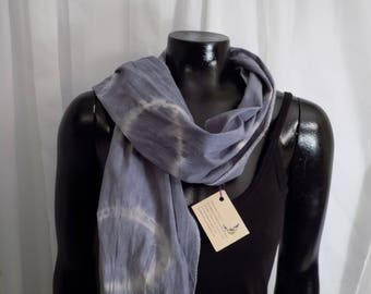 Eco Dyed Purple Scarf with Logwood