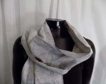 Eco Dyed Lavender/Gray Scarf with Logwood
