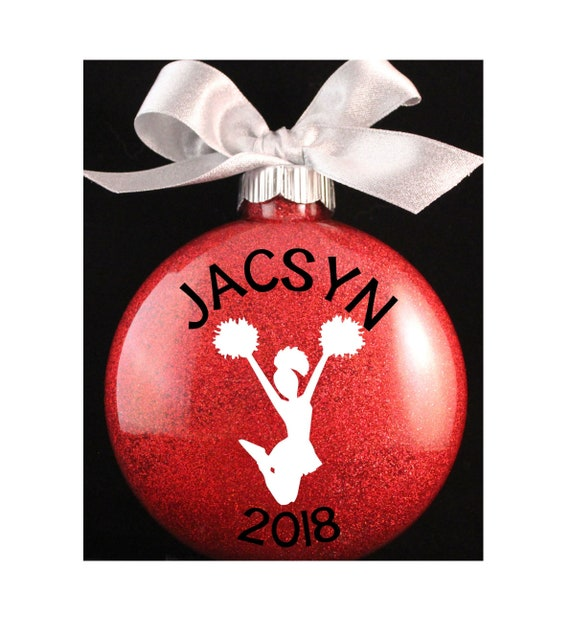 image 0 - Cheerleader Christmas Ornament Cheer Ornament With Name And Etsy