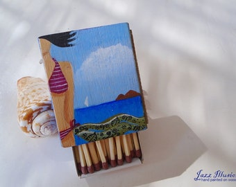 Matchbox Handmade Matchbox Hand Painted Acrylics On Wood Unique  Gift For Her And For Him Beautiful Home Decor.