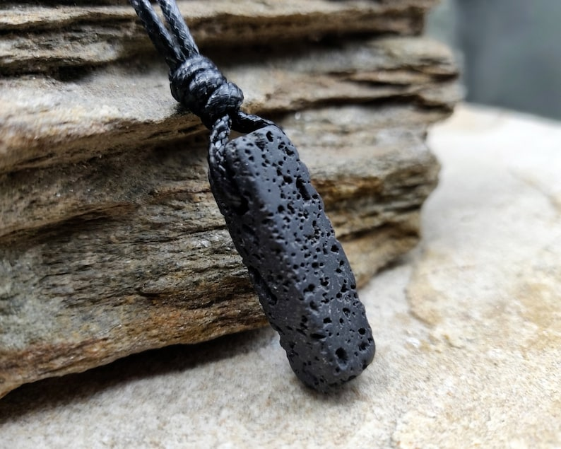 Viking Jewelry for Men and Women Aromatherapy Jewelry Spiritual Gifts Natural Lava Stone Diffuser Necklace Lava Rock Necklace