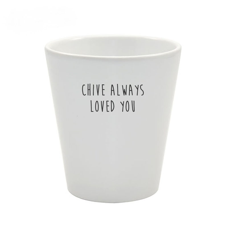 Grown Your Own Kit Funny Pun Plant Pot Chive Always Loved You