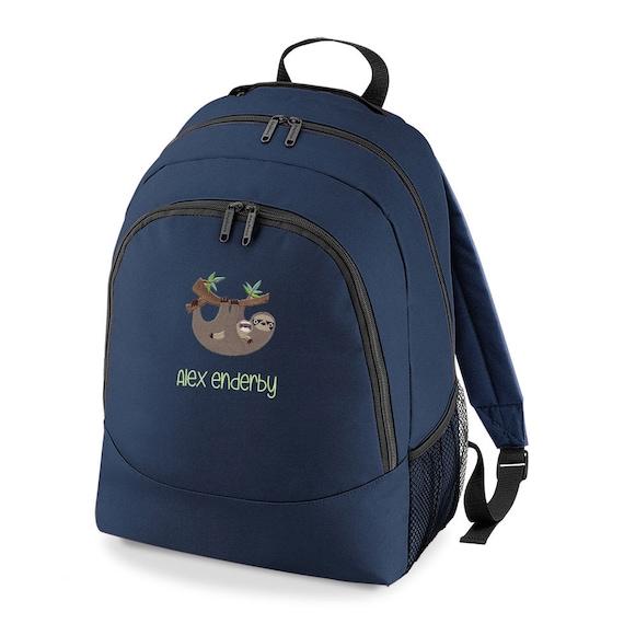 Sloth Backpack Personalized Sloth Back pack Sloth Bag Sloth  9bc07b8cfa7e2