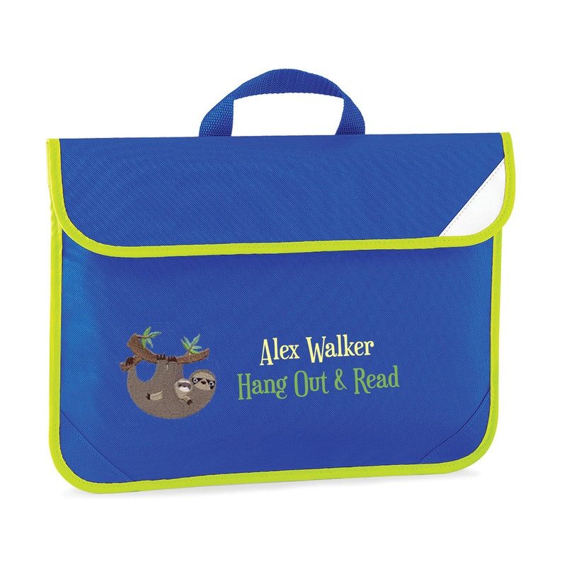 07174d7606a6 School Book Bag Sloth Bag 1st Day of School Personalised