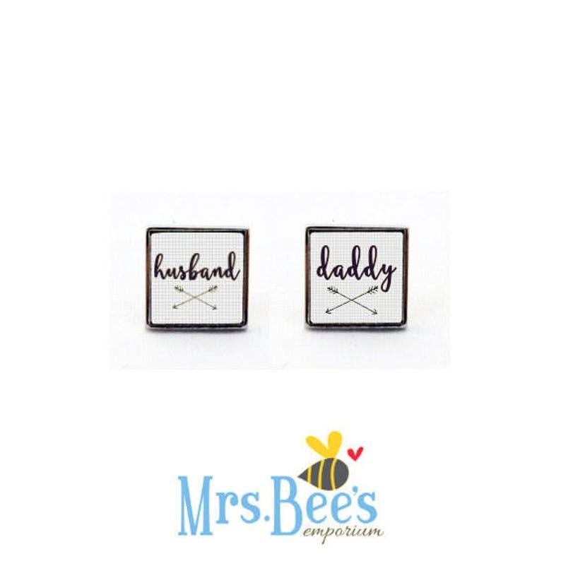 Family Cufflinks For Dads Hubby Daddy Gift From Baby Gift From Child Cuff Links For Daddy Husband Daddy Cufflinks Keepsake Jewellery