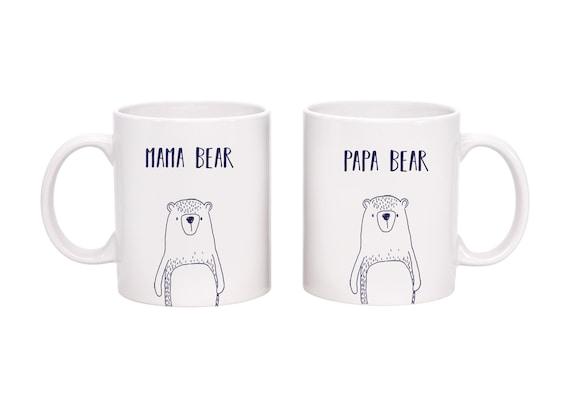 Mug for New Parents New Parents Bear Mug Set Papa and Mama Bear Mug Set