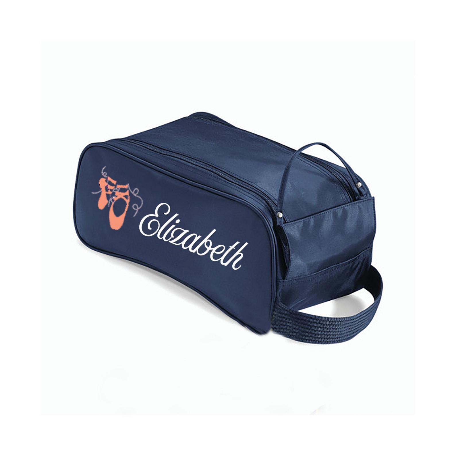 ballet shoe bag, dance bag, ballet bag, pointe shoe bag, dance shoes, personalized bag, dance teacher gift, dance recital gift,