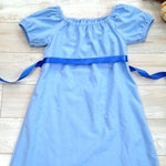 Peter Pan's Blue Wendy Darling Inspired Nightgown Halloween Costume Cosplay Dress, Sleep or Play, Warm Flannel, Sizes 2T - 10+ FREE SHIPPING