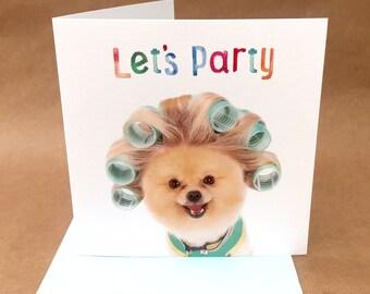 Pomeranian Card Etsy