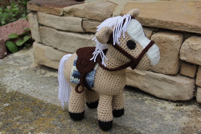 CROCHET PATTERN for Pretty Crochet Horse Pretty Pony Crochet | Etsy | 529x794
