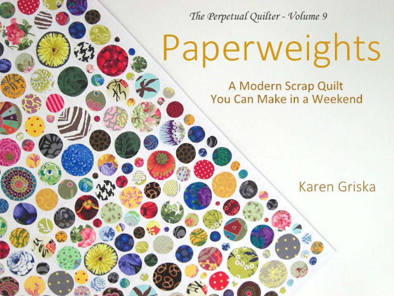 Paperweights Quilt Pattern Modern Scrap Quilt Easy Quilt image 0