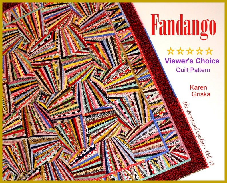 Fandango Quilt Pattern Art Quilt Wall Quilt String Quilt image 0