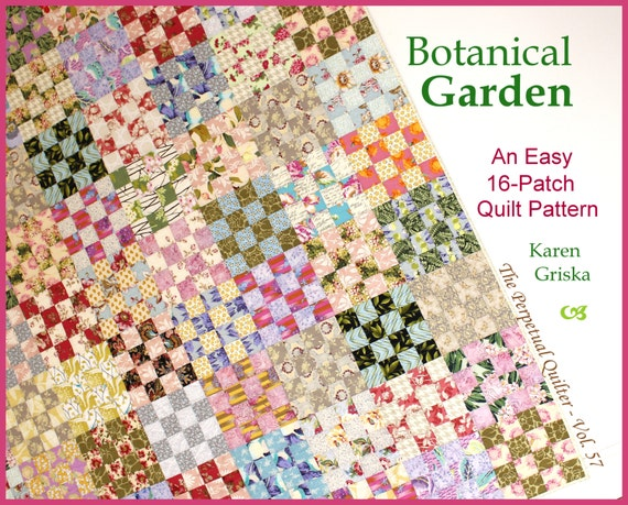 Botanical Garden Quilt Pattern Easy Scrap Quilt Pattern