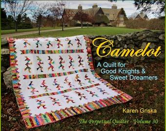 Camelot Quilt Pattern, Indian Quilt, Modern Scrap Quilt Pattern, Boy or Girl, Easy, PDF, qtm, immediate download