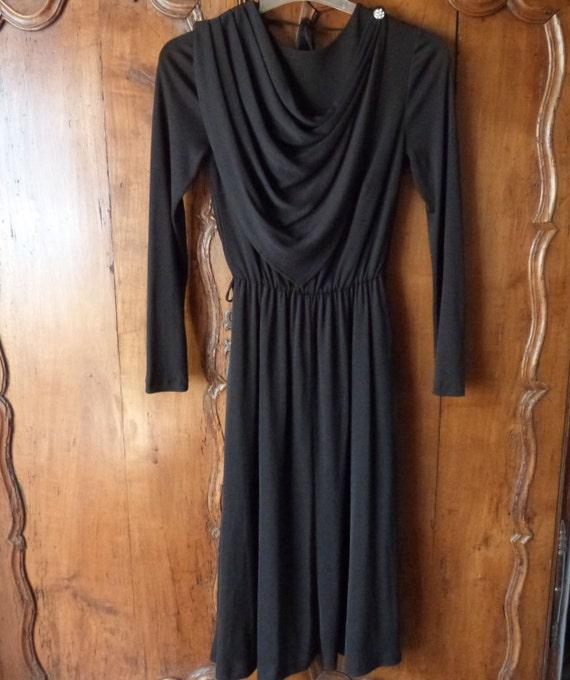 Vintage Französisch-Schwarz lange Abend Kleid Gala Party Kleid   Etsy