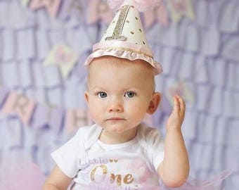 Sparkle Collection Heart 1st Birthday Party Hat Cake Smash Birthday Photo Shoot Prop