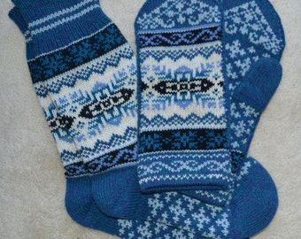 172ca978596 100% wool Socks Headband and Mittens set Norwegian