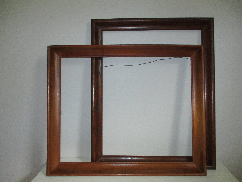 Lot Old Wood Frames, LARGE Vintage Wooden Ornate Maple,16\
