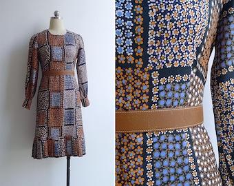 Vintage 70's 'Daisy Fields' Hippie Flower Child Dress XS or S