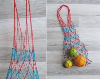 Vintage 70's Grocery String Net Market Bag