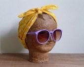 Vintage 80's Groovy Grape Oversized Purple Sunglasses