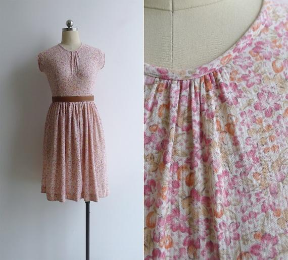 Vintage 80's 'Berries & Flowers' Pink Floral Print
