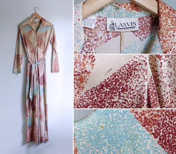 LANVIN S or Fever M Night Jumpsuit 70's Vintage Saturday H1w5ZqCx