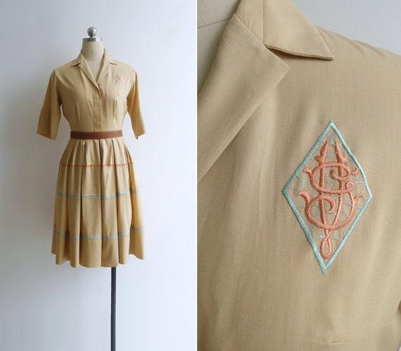 SALE - Vintage 50's 'Norman Wiatt' Embroidered Mon
