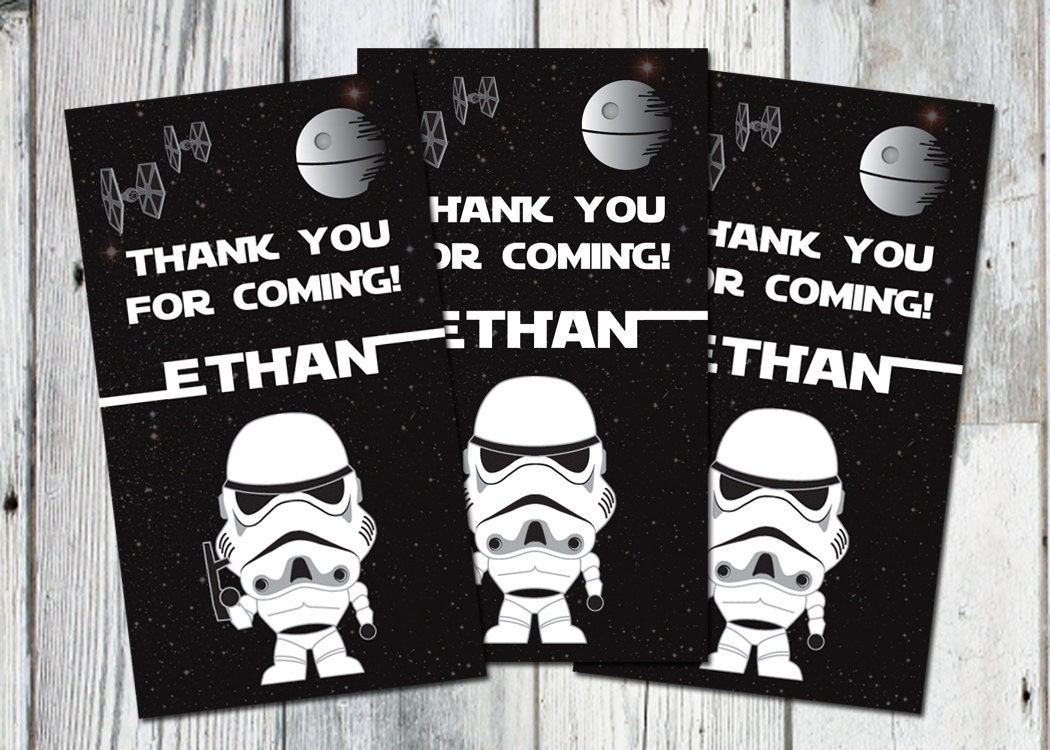 image relating to Free Printable Star Wars Birthday Invitations identified as Star Wars Want tags: Printable thank your self bag tag with Darth Vader, Matching Bash Printables and Invitation Offered