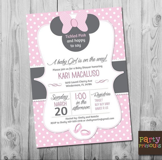 Minnie mouse baby shower invitations minnie baby shower etsy image 0 filmwisefo