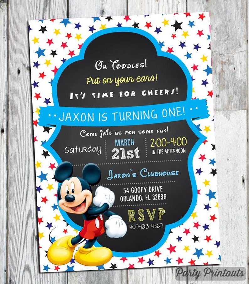 Mickey Mouse Invitations Birthday Invitation