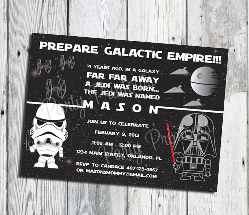 Star Wars Invitation Printable Party Invitations