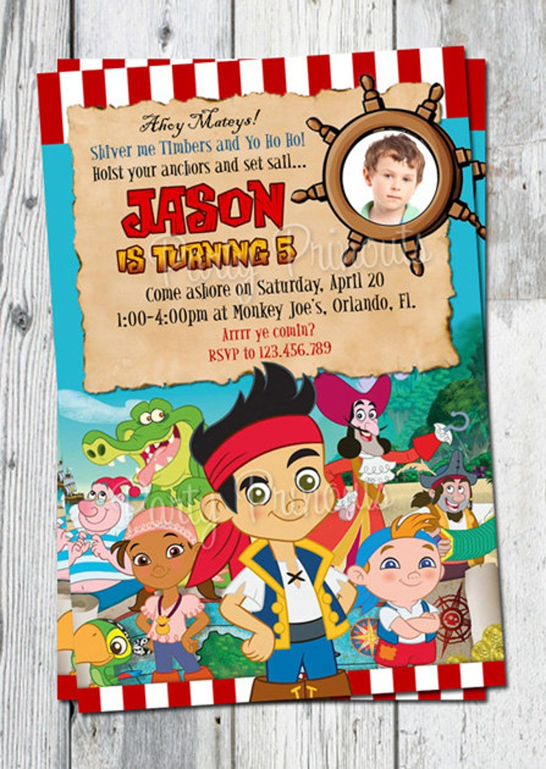 Jake And The Neverland Pirates Birthday Invitation Printable