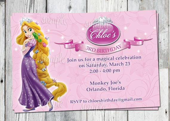 Tangled birthday invitation printable rapunzel personalized etsy image 0 filmwisefo
