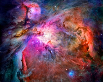 Orion Nebula - Luster Photo Paper or Canvas Gallery Wrap Ready to Hang - Available Sizes (12x12) (16x16) (20x20) (24x24) (30x30) (36x36)