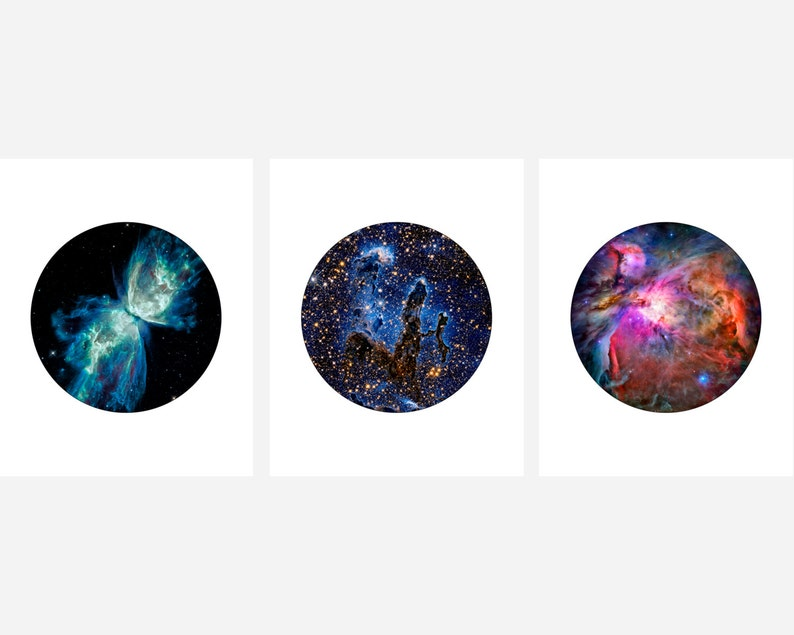 3 Photography Set Amazing NASA Images from the Hubble Telescope Hubble Photography Set