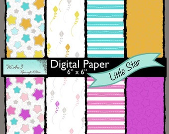 We Are 3 Digital Paper, Little Star