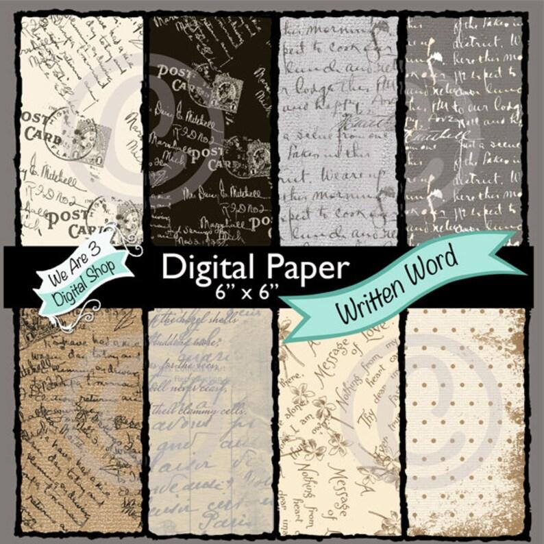 We Are 3 Digital Paper  Written Word Ephemera image 0