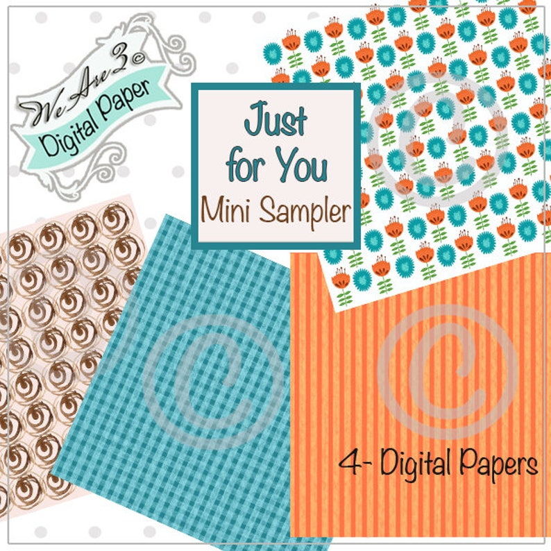 We Are 3 Digital Mini Sampler Just for You Kit and Clowder image 0