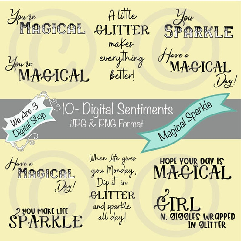 We Are 3 Digital Sentiments  Magical Sparkle image 0