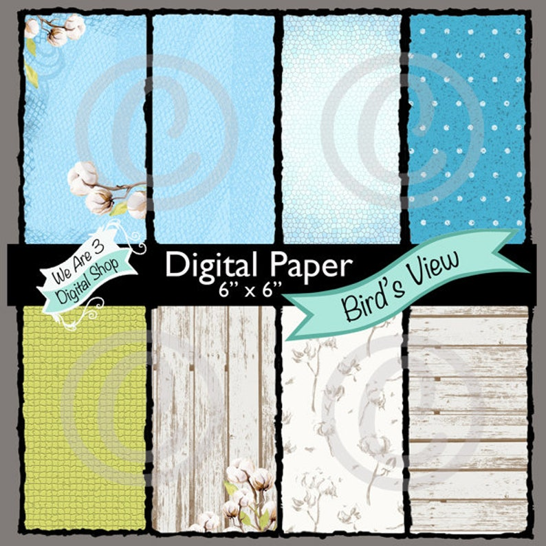 We Are 3 Digital Paper Bird's View image 0