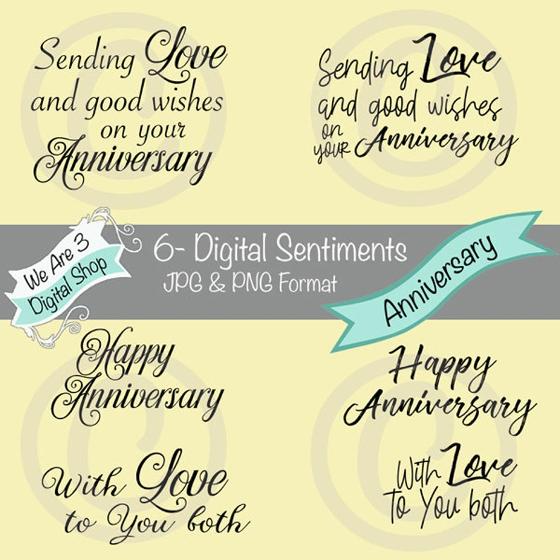 We Are 3 Digital Sentiments  Anniversary image 0
