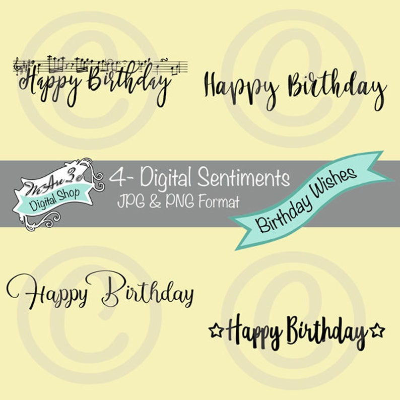 We Are 3 Digital Sentiments  Birthday Wishes image 0