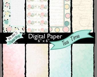 We Are 3 Digital Paper, Tea Time