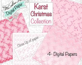 We Are 3 Digital Paper, Kerst Christmas