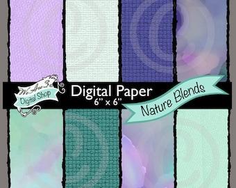 We Are 3 Digital Paper, Nature Blends, Watercolor