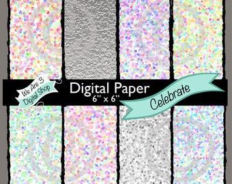 We Are 3, Digital Paper, Celebrate, Confetti
