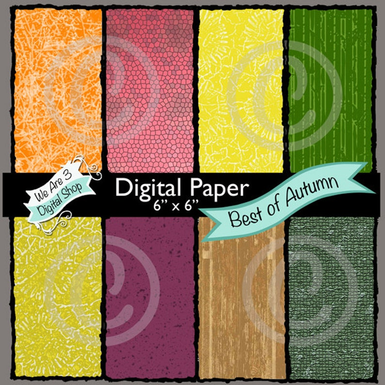 We Are 3 Digital Paper Best of Autumn image 0